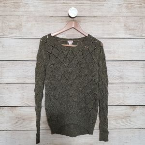 💟5/$25 Mossimo Knitted Sweater Top L